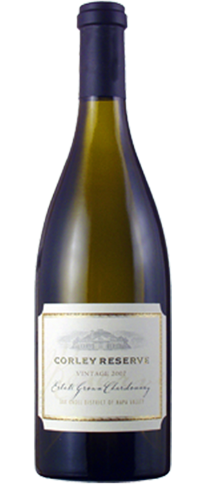 Corley Reserve Estate Grown Chardonnay Bottle