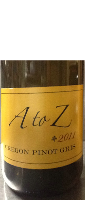 A to Z Wineworks 2011 Pinot Gris (Grigio) Bottle