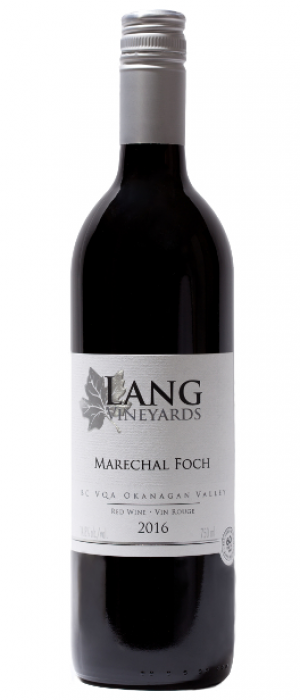 Lang Vineyards 2017 Marechal Foch Bottle