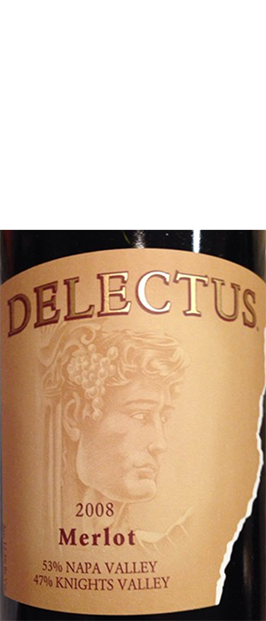 Delectus Winery 2008 Merlot Bottle