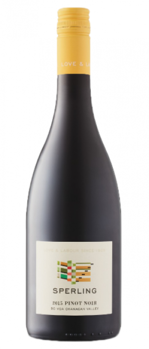 Sperling Vineyards 2015 Pinot Noir Bottle