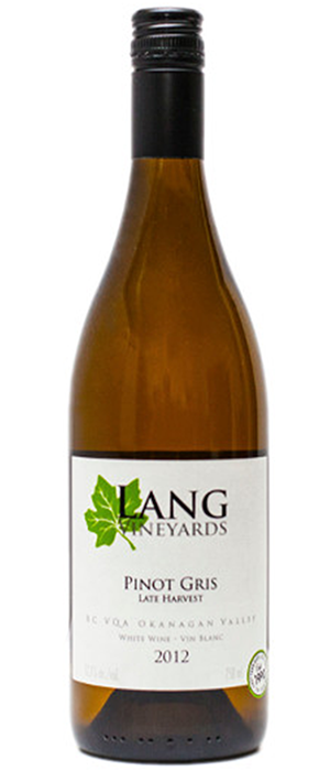 Late Harvest Pinot Gris Bottle