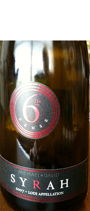 Michael David Winery 6th Sense 2007 Syrah Bottle