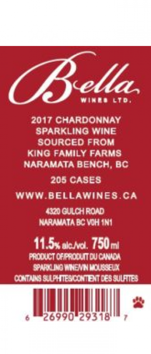 Bella Wines 2017 Sparkling Blanc de Blancs King Family Farms | White Wine