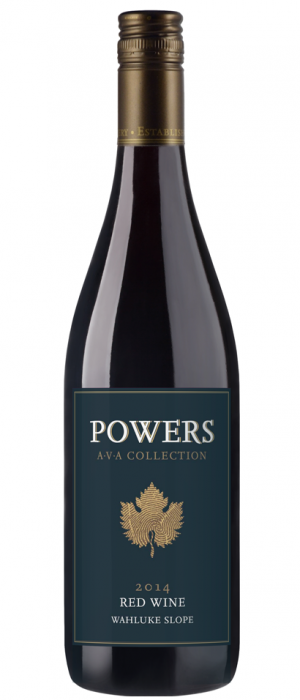 Powers Winery AVA Collection Wahluke Slope AVA 2014 Red Wine Bottle