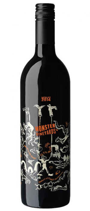 Monster Vineyards 2015 Merlot Bottle