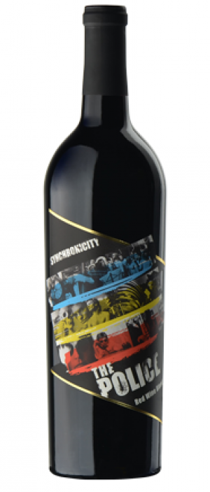 The Police Synchronicity Red Wine Blend Bottle
