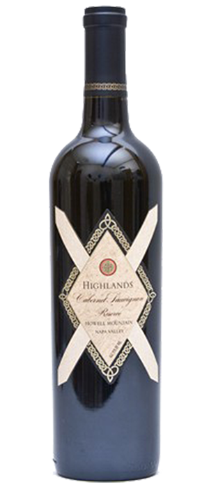 Highlands Cabernet Sauvignon Reserve Howell Mountain Bottle