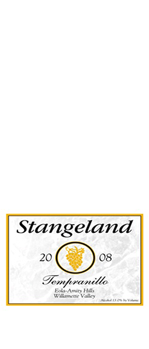 Stangeland 2010 Tempranillo Bottle