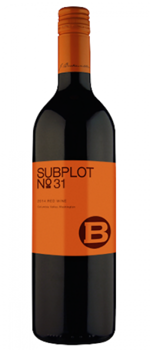J. Bookwalter Winery Subplot #31 2014 Bottle