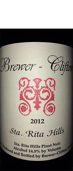 Brewer-Clifton 2012 Pinot Noir Bottle