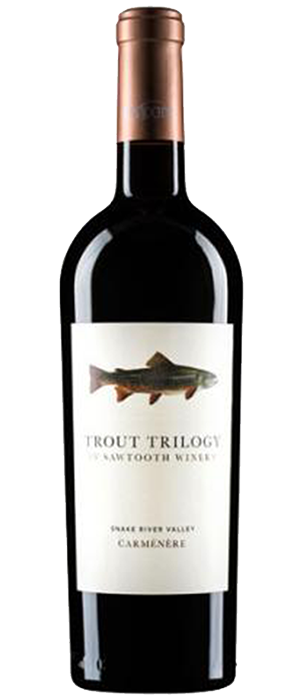 Sawtooth Trout Trilogy Carmenere Bottle