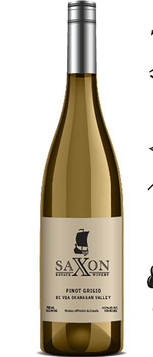 Saxon Estate Winery 2012 Pinot Gris (Grigio) Bottle