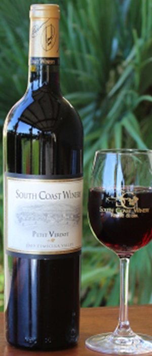 South Coast Winery 2010 Petit Verdot Bottle