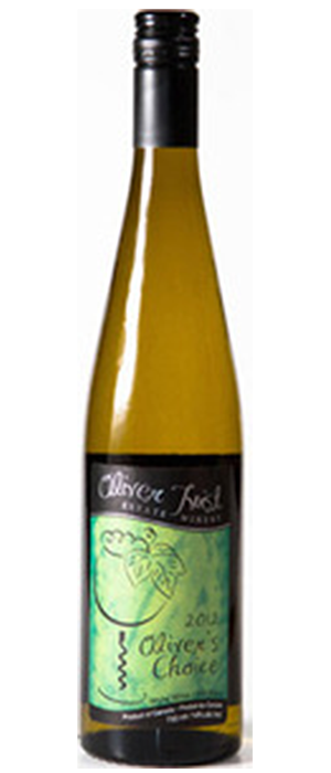 Oliver Twist Estate Winery 2013 Kerner Bottle