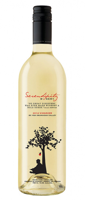Serendipity Winery 2015 Viognier Bottle