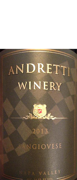 Andretti  Napa Valley Sangiovese Bottle