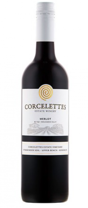 Corcelettes Estate Winery 2015 Merlot Bottle