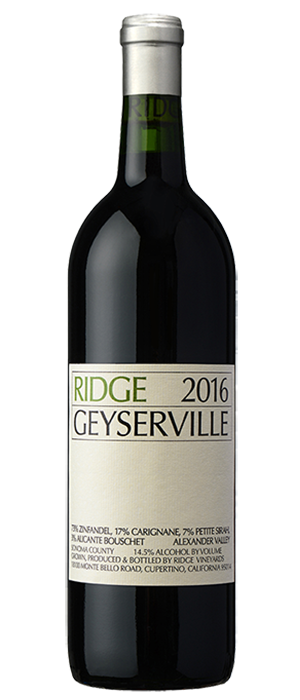 Ridge Vineyards 2016 Geyserville | Red Wine