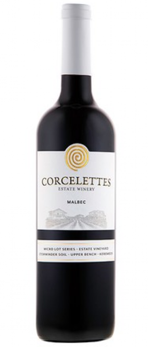 Corcelettes Estate Winery 2016 Malbec Bottle