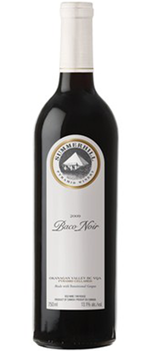 Summerhill Pyramid Winery 2011 Baco Noir Bottle