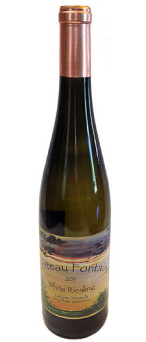 Chateau Fontaine Dry White Riesling Bottle