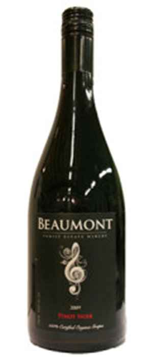 Beaumont Family Estate Winery 2009 Pinot Noir Bottle