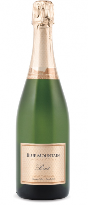 Blue Mountain Vineyard and Cellars Gold Label Brut Bottle