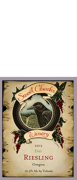 Sweet Cheeks Winery 2012 Dry Riesling Bottle