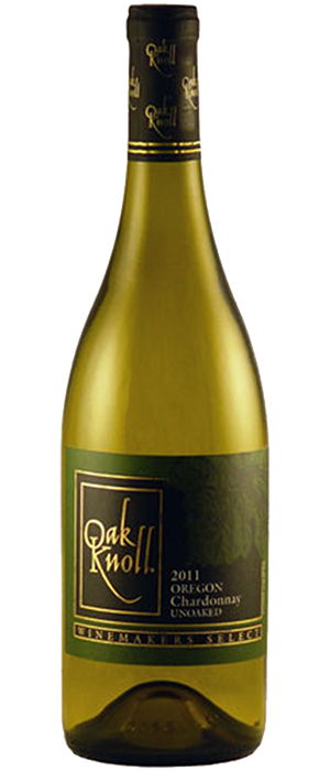 Unoaked Chardonnay Oregon Bottle