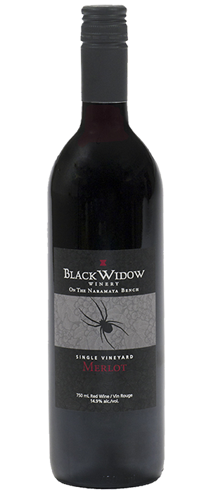 Black Widow Winery 2012 Merlot Bottle