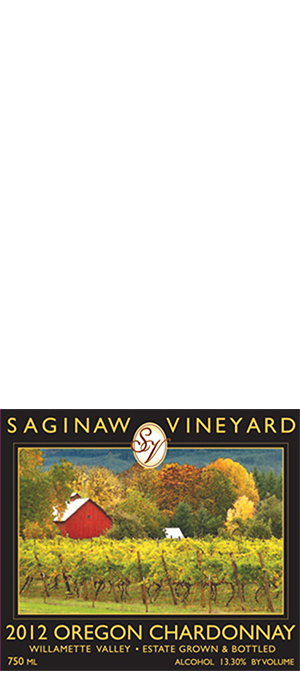 Saginaw Vineyards 2013 Chardonnay Bottle