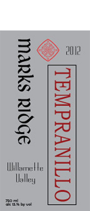 Mark's Ridge 2012 Tempranillo | Red Wine
