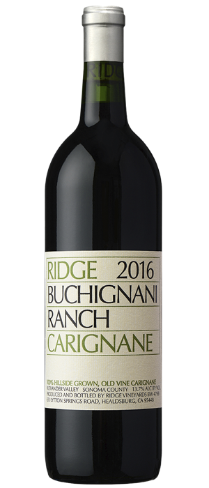Ridge Vineyards 2016 Buchignani Carignane | Red Wine