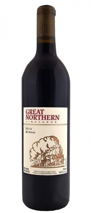 Kettle Valley Winery 2013 Great Northern Vineyards Syrah Bottle