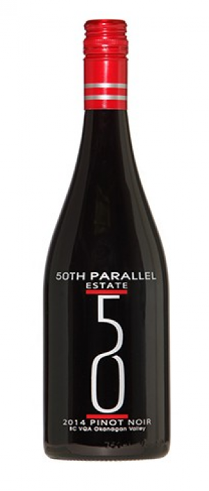 50th Parallel Estate 2014 Pinot Noir Bottle
