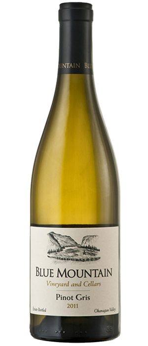 Blue Mountain Vineyard and Cellars 2011 Pinot Gris (Grigio) Bottle