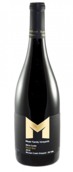Meyer Family Vineyards 2016 Micro Cuvée Pinot Noir Bottle