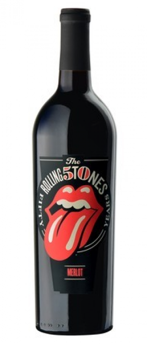 Rolling Stones Forty Licks Merlot Bottle