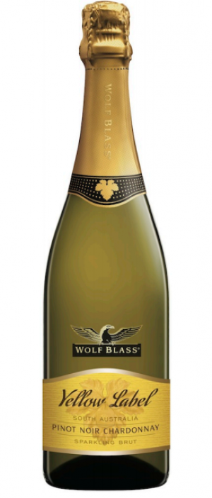 Wolf Blass Yellow Label Pinot Noir Chardonnay Sparking Brut Bottle