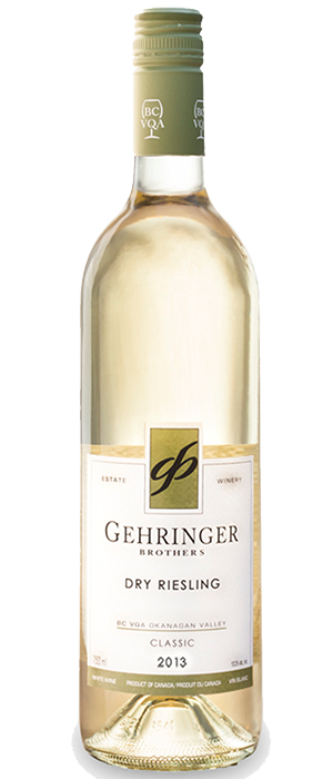 Gehringer Brothers Classic 2012 Dry Riesling Bottle