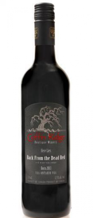 Coffin Ridge Boutique Winery Back from the Dead Red 2015 Ontario VQA Bottle