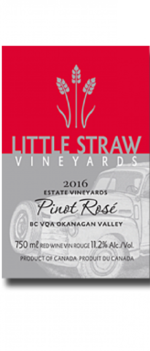 Little Straw Vineyards Estate 2016 Pinot Rosé Bottle