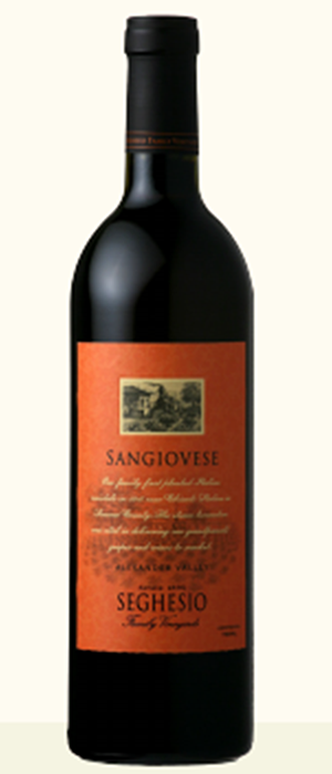 Seghesio Family Vineyards 2010 Sangiovese Bottle