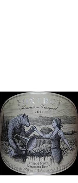 Foxtrot Vineyards 2011 Pinot Noir Bottle