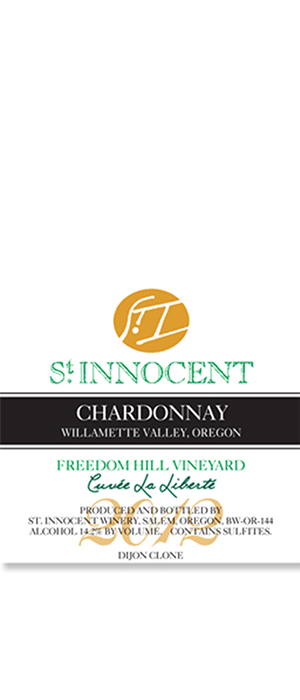 "St. Innocent Freedom Hill Vineyard ""Cuvée la Liberté"" 2012 Chardonnay Bottle"