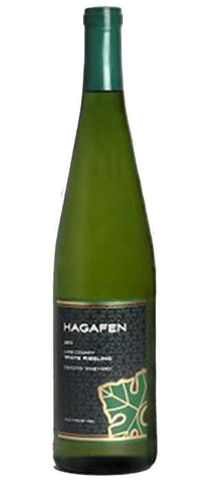 Hagafen Lake County Riesling Bottle