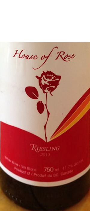 House of Rose 2013 Riesling Bottle