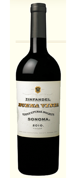 Buena Vista Winery 2012 Zinfandel Bottle