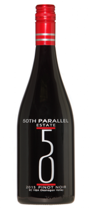 50th Parallel Estate 2015 Pinot Noir Bottle